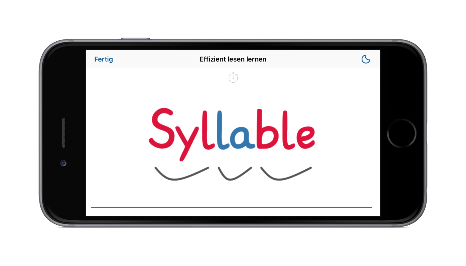 iPhone showing Syl·la·ble